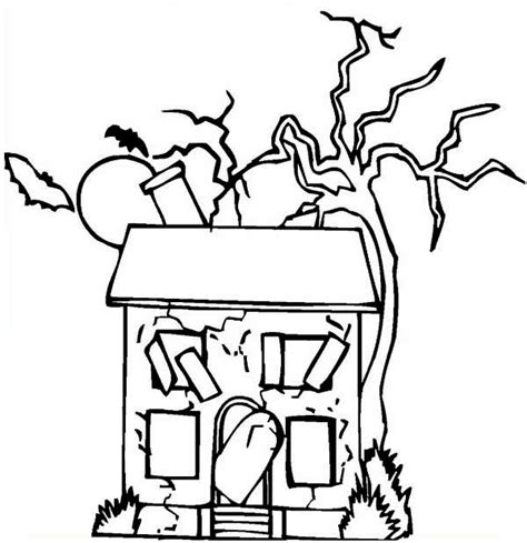coloring pages of things inside a house old creepy house coloring thomas the train halloween s
