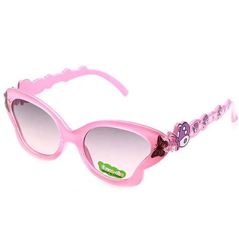 cool glasses cool anti uv sunglasses kids girls cartoon butterfly