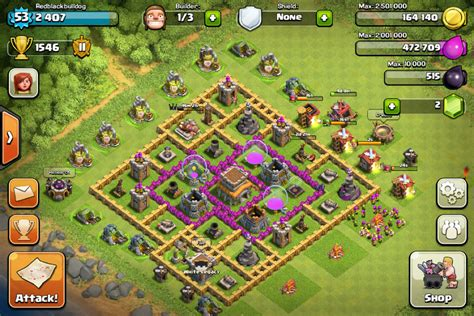 town hall 8 hybrid base category bases clash tactics