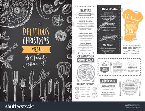 Cafe Brochure Design by Vector Restaurant Brochure Menu Design Stock