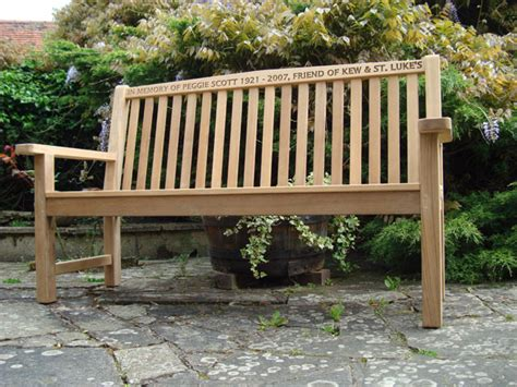 in memory benches memorial benches teak classic bench 1500