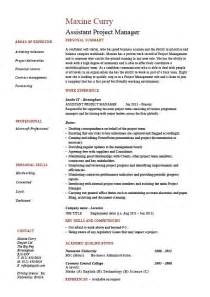 Resume Management Skills by Assistant Project Manager Resume Sample Template
