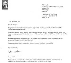 banks send out threatening letters