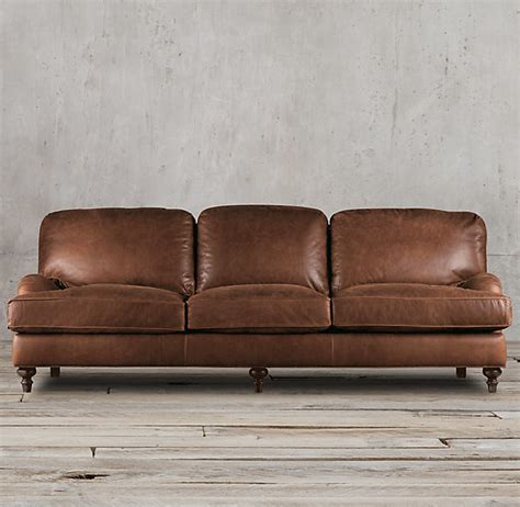 english roll arm leather sofa restoration hardware 7 english roll arm leather sleeper sofa