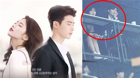 drama lee jong suk youtube suzy and lee jong suk captured getting friendly and close