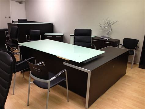 l shaped executive desk chiarezza executive l shaped desk with white glass
