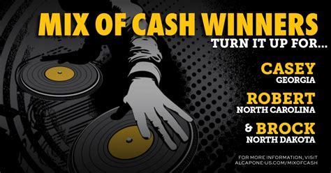 Sweepstakes Cash - mix of cash sweepstakes al capone cigarillos