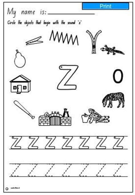 sound discrimination worksheets aural discrimination initial sound z skills interactive activity lessons