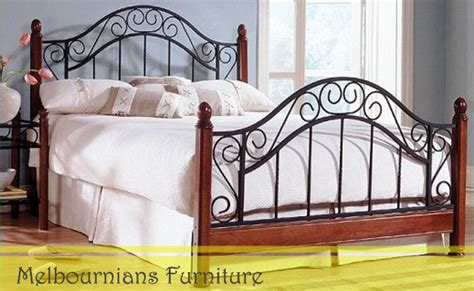 wrought iron queen bed frame ebay