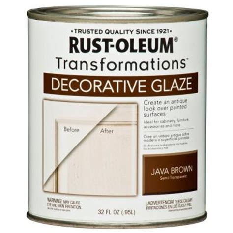 rust oleum transformations 1 qt java brown cabinet decorative glaze of 2 266227 the