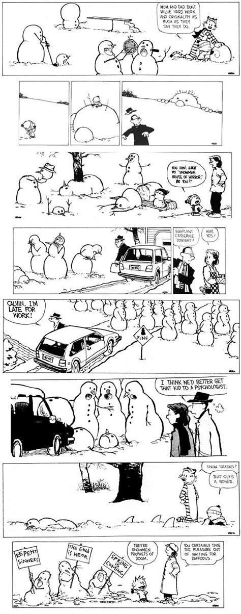 calvin and hobbes snowmen calvin and hobbs calvin hobbes pinterest snow