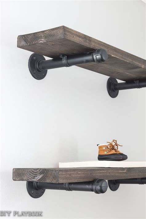 galvanized pipe shelves industrial and tutorials on pinterest