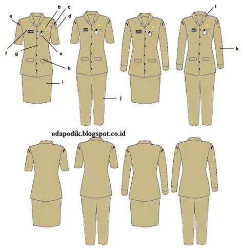 model pakaian dinas pns 22 januari 2016 untuk wanita
