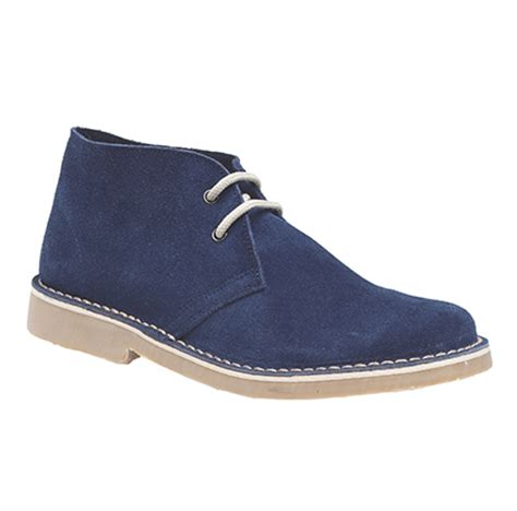 mens navy suede desert boots new mens navy blue suede leather desert boots size 4 12 ebay
