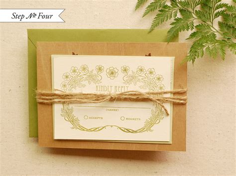Diy Wood Veneer Wedding Invitations
