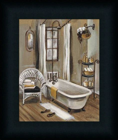 Bathroom Framed Prints Bath Ii Vassileva Bathroom Spa Framed Print Wall D 233 Cor Picture Ebay