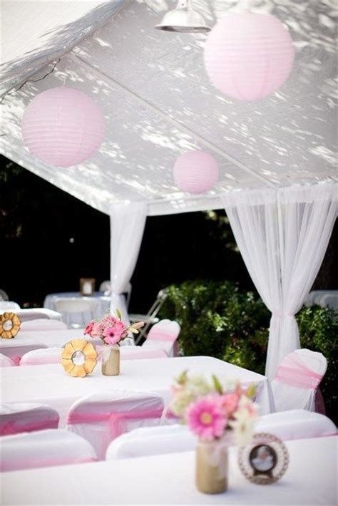 Table Shower Meaning by Pink And White Baptism Ideas Outdoor
