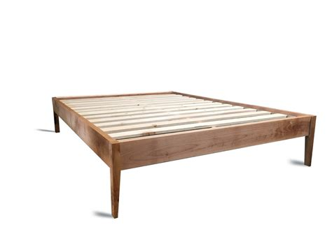 Wood Bed Frames With Headboard by Platform Bed Frame Simple Wood Bed With Sleek Tapered Legs