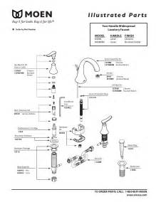 moen kitchen faucet diagram moen faucet parts diagram images