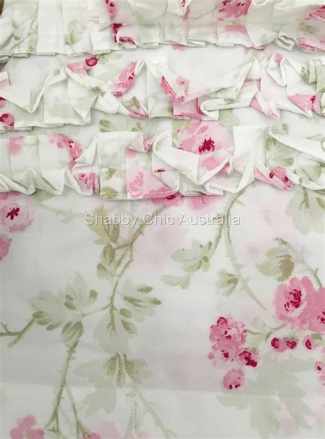 simply shabby chic rachel ashwell cherry blossom pink roses bath shower curtain ebay