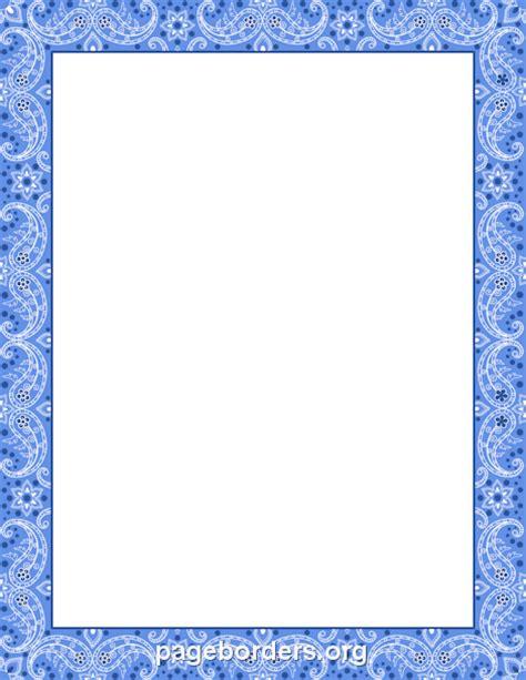 frame design for microsoft word printable blue bandana border use the border in microsoft