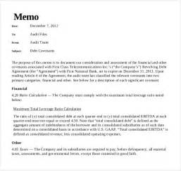 Audit Policy Template by 10 Audit Memo Templates Free Sle Exle Format