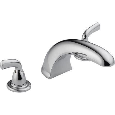 Deck Mounted Tub Faucet by Delta Foundations 2 Handle Deck Mount Tub Faucet