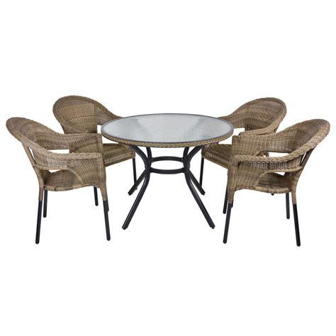 rattan wicker dining 4 seat garden patio furniture