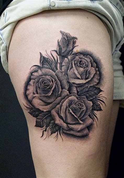27 beautiful black rose tattoos design desiznworld