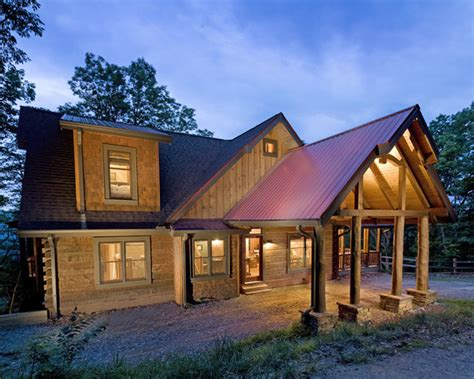 modern rustic homes chestnut lodge traditional exterior atlanta by