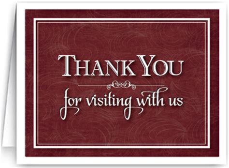 thank you letter to visiting pastor greeting cards from pastor to congregation just b cause