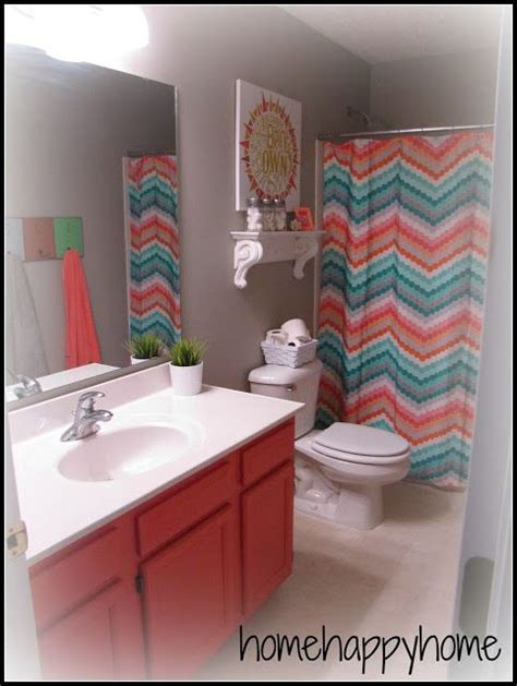 gray and coral bathroom gray and coral kid teen bathroom bathroom kitchen organization pinterest