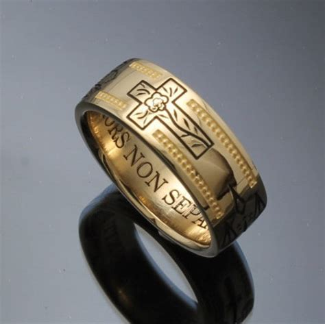 Handmade Masonic Rings - handmade masonic ring in 14k gold vintage style 024