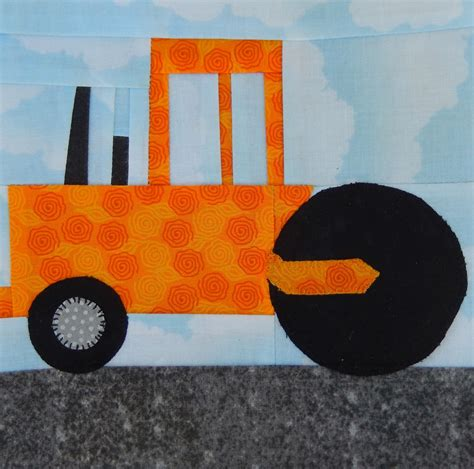pattern construction paper steamroller paper pieced pdf vehicle pattern road