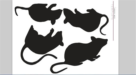 mouse silhouette template 6 best images of printable silhouettes free