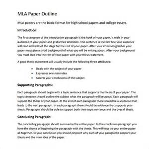 apa outline template word 2010 mla outline template 11 free documents in pdf