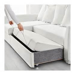 holmsund corner sofa bed ransta white ikea