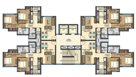 2 bhk flat design plans om sai siddhi properties casa