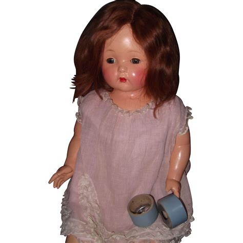 composition phonograph doll gorgeous effanbee mae talking phonograph composition