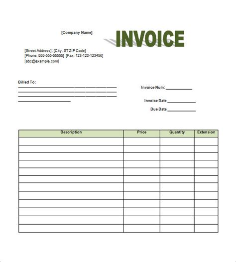 retail invoice template invoice sle template