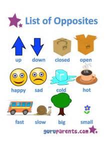 oppisite of opposites worksheets guruparents