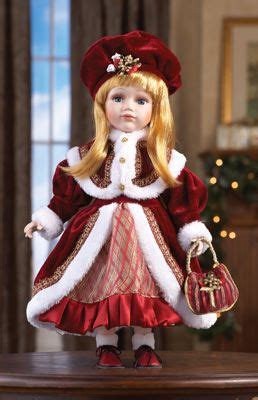 sweet sabrina collectible holiday porcelain doll victorian dolls collections  dolls