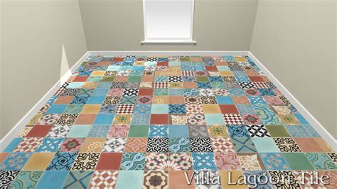 Colorful Patchwork Cement Tile In Stock   Villa Lagoon Tile