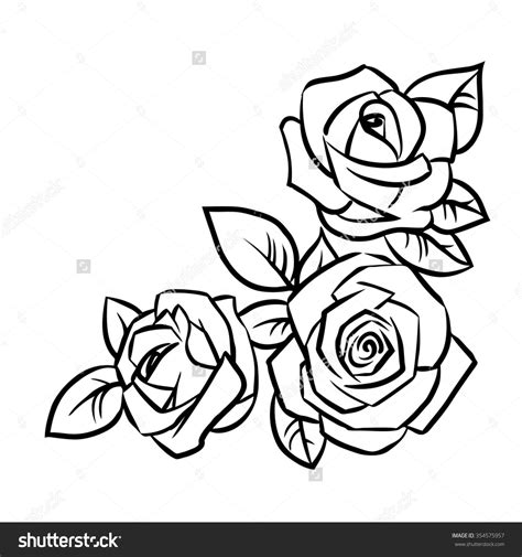 outline of rose tattoo simple outline drawing search tattoos