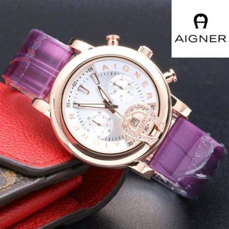 Jam Tangan Wanita Aigner Sl1127 Purple jual beli aigner a097 purple baru jam tangan wanita