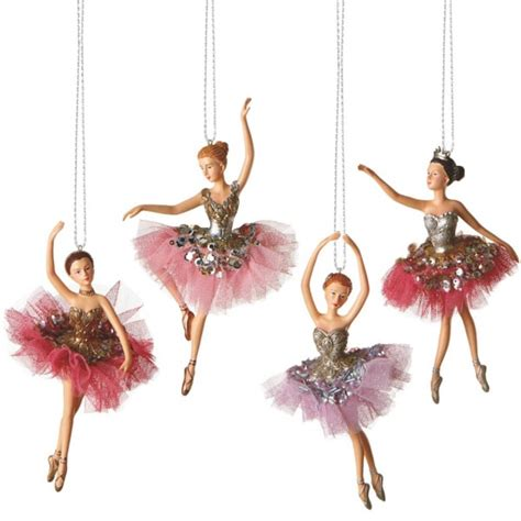 ballet dancer christmas ornaments set of 4