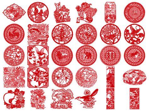 oriental design elements vector 四方连续剪纸纹样 16四方连续剪纸纹样 四方连续花卉纹样图片