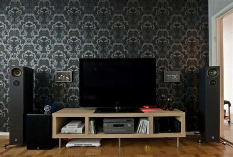 living room tv setups dark wallpaper living room tv setup interior design ideas