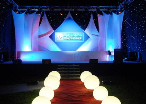 Stage Decoration For Corporate Events by Futuristic Theme Ideas Pesquisa 60s