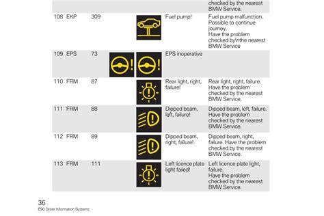 bmw 3 series warning symbols list bmw 335i warning light symbols iron